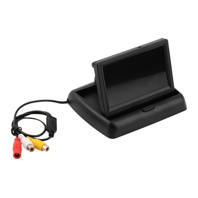 4.3 ''Tela Colorida TFT LCD Monitor Do Carro Dobrável Car Câmara de visão Traseira Suporte NTSC/PAL de Vídeo sistema de Estacionamento Monitor LCD Novo