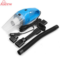 150W DC12V Super Suction Handheld Cyclonic Car Vehicle Vacuum Cleaner Blue Rechargeable Wet Dry Duster