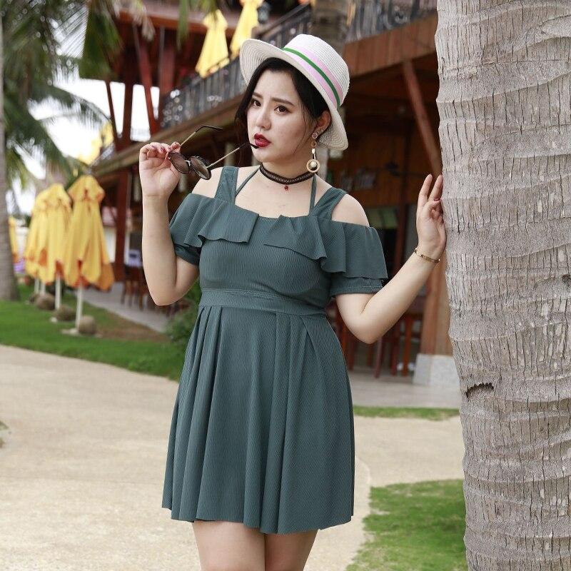 Grande taille robe de plage Cover Up Femmes Noir Bleu 2 Pièces Imprimer Floral 3XL-7XL Maillot de Bain Robe + shorts Off Épaule maillot de bain