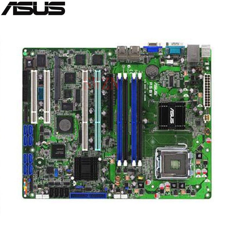 original Used Server motherboard For Asus P5BV/SAS P5BV SAS Socket 775 Maximum 4*DDR2 8GB 4xSATAII ATX