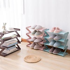 Nordic Style MultiLayer Stainless Steel Assembly Shoe Rack Multi-function Household Rack Fashion Bookshelf Living Room Organizer