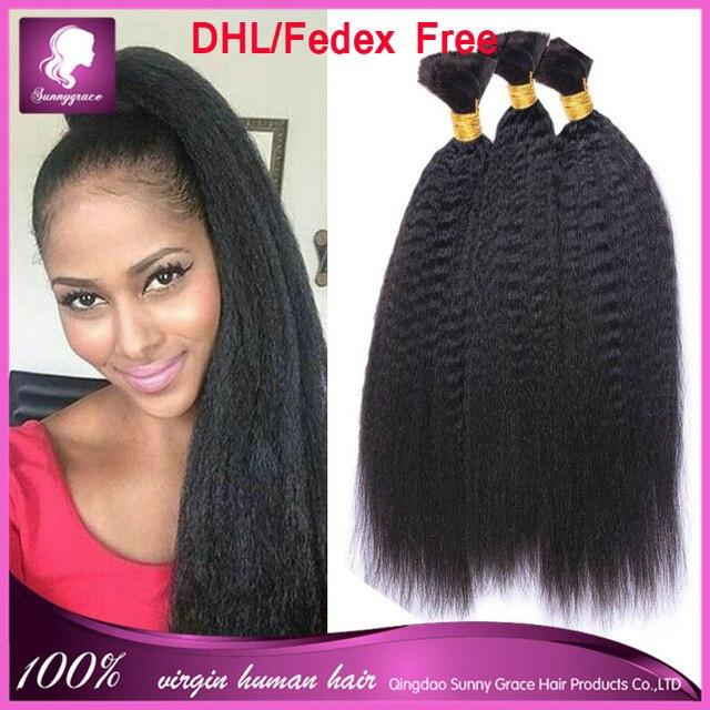 7A Remy Virgin Peruvian Afro Kinky Straight Human Braiding Hair Bulk No  Weft Italian Coarse Yaki Bundles Crochet Hair Extensions 8d6915082
