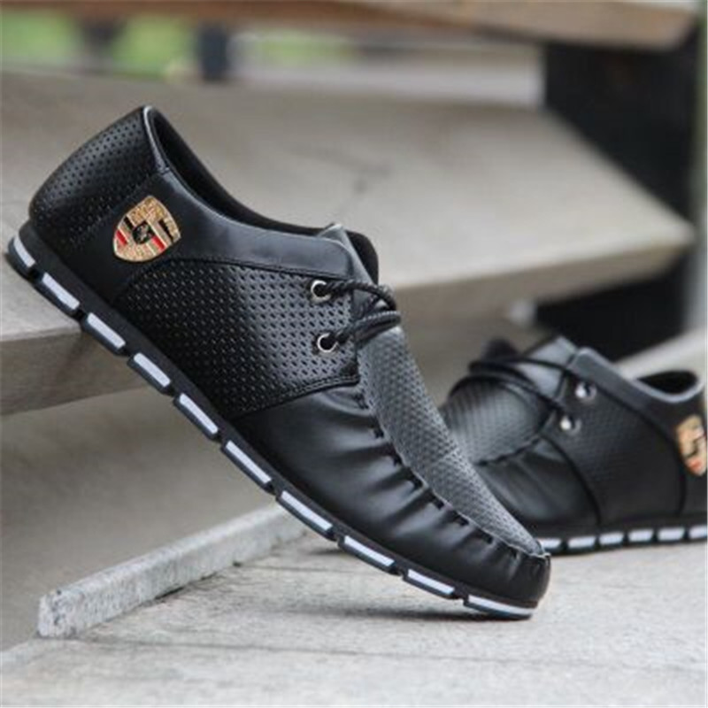 Sports Driving Shoes Men's Flat Shoes Non-slip Casual Shoes Italy Flat Shoes 2019 Korean Version Of Men's Peas Soft Shoess
