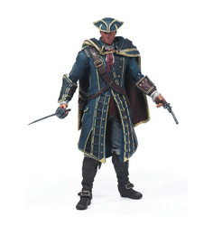 Free Shipping Assassins Creed 4 Black Flag Connor Haytham Kenway Edward Kenway PVC Action Figure Toys hidden blade