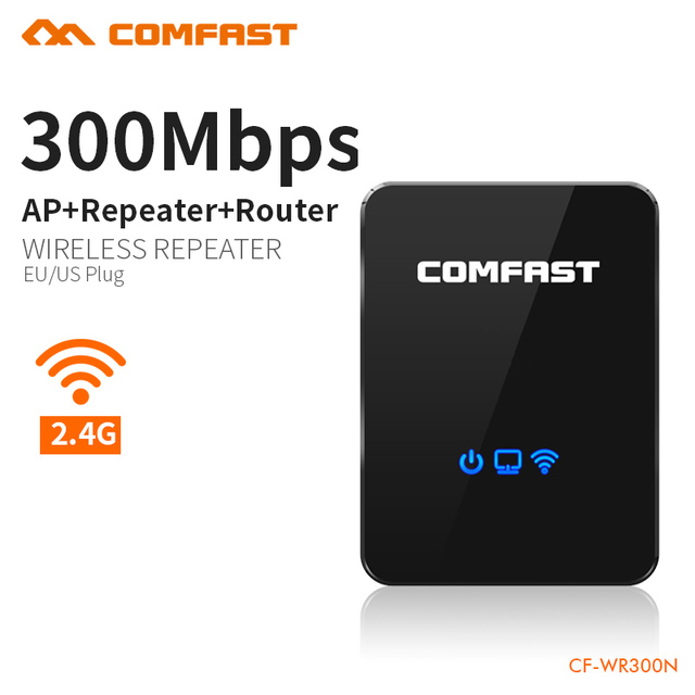 Répéteur de routeur sans fil Comfast répéteur de gamme répéteur Wi fi 300 mbps routeur Portable répéteur de Signal Wifi Booster de Signal Wifi