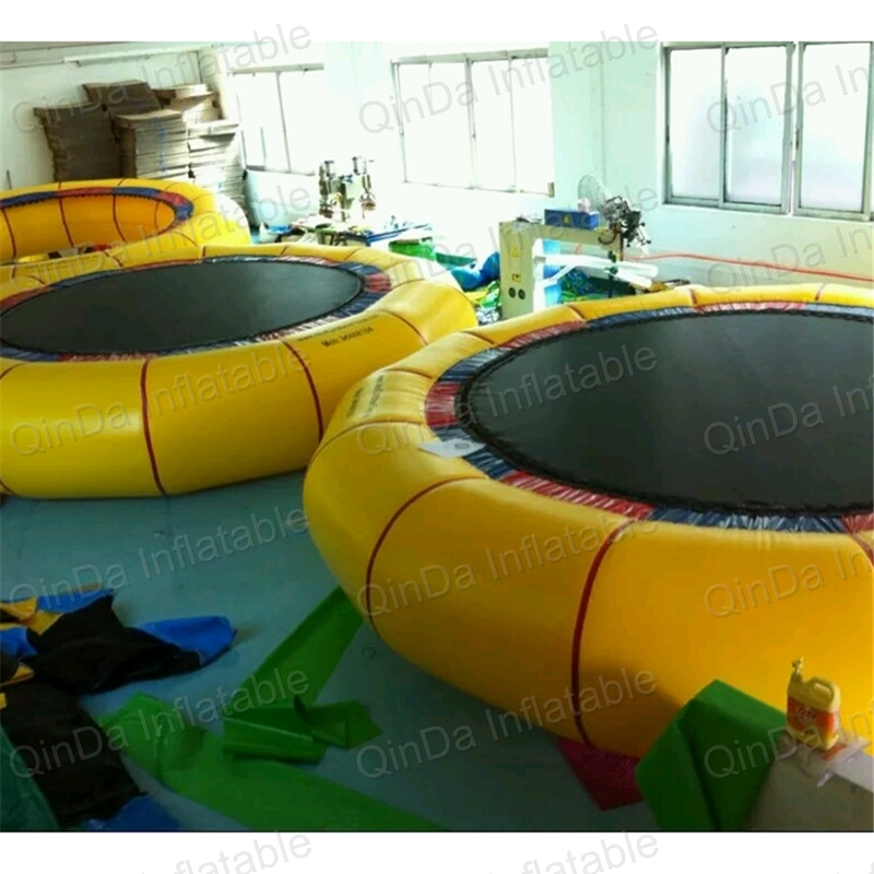 Protable Water trampoline 3m diameter inflatable water jumping bed water platform inflatable bouncer pool float toy funny summer inflatable water games inflatable bounce water slide with stairs and blowers