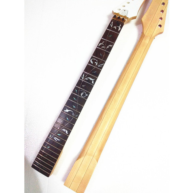 disado 24 Frets inlay Tree of Life maple Electric Guitar Neck Guitar accessories Parts  can be customized musical instruments