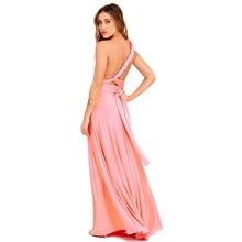 Red Long Bridesmaids Convertible Infinity Robe