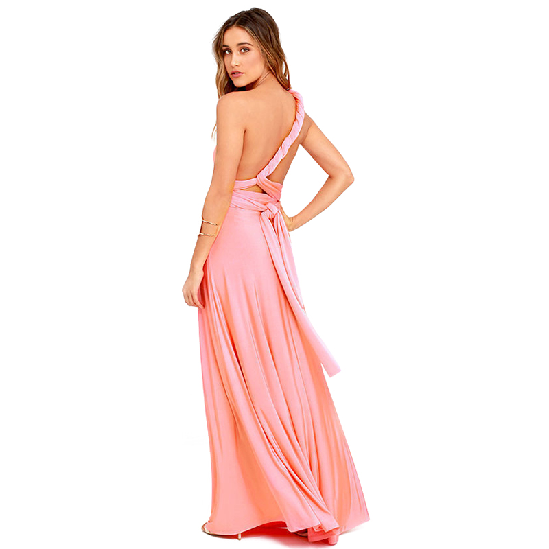 Sexy Women Boho Maxi Club Dress Red Bandage Long Dress Party Multiway Bridesmaids Convertible Infinity Robe Longue Femme 2018