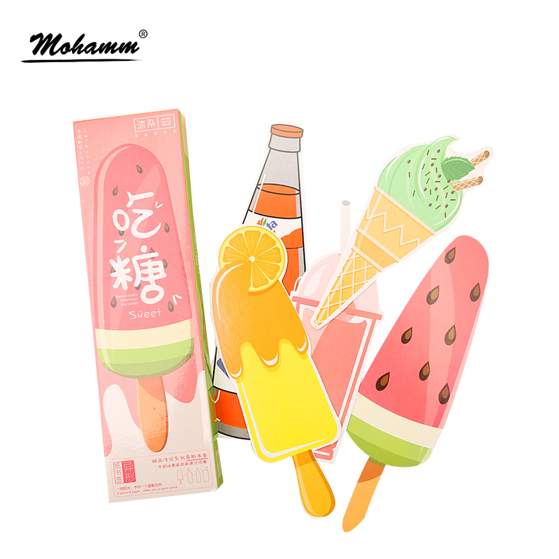 30 Pcs/lot Cute Kawaii Ice Cream Soda Paper Bookmark Gift Stationery Film Bookmarks Book Holder Message Card School Supplies