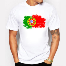 Portugal Flag New Fashion Tee shirts Short Sleeve T-shirts Reminiscence Portugal Flag Summer Style Fitness Tshirts For Men
