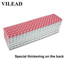VILEAD Foldable 18MM 두꺼운 캠핑 매트 188*55cm 초경량 IXPE 폼 폴딩 슬리핑 캠핑 하이킹 트레킹 비치 패드