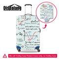 Fórmula coordenada eixos dispalang 3d impressões de viagem carrinho de bagagem mala capa dirtproof à prova d' água elástica capas protetoras