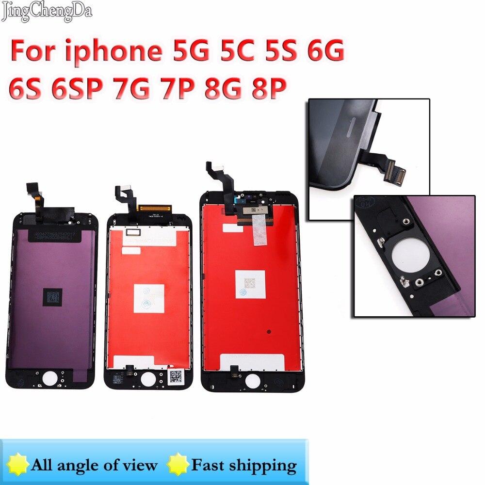 JCD pour iPhone 7G 7 Plus 8G 8 Plus 6 6 S 6 S Plus 5 LCD nouveau avec écran tactile 3D numériseur assemblée remplacement affichage