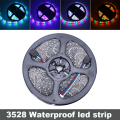 Waterproof 300leds/5M SMD 3528 RGB LED Strip Flexible LED Tape 12V LED Ribbon RGB & Single Colors Free Shipping