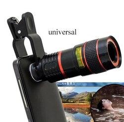 Uniwersalny klip 8-krotny Zoom teleskop do telefonu komórkowego teleobiektyw zewnętrzne obiektywy do aparatów w telefonach komórkowych na smartfony