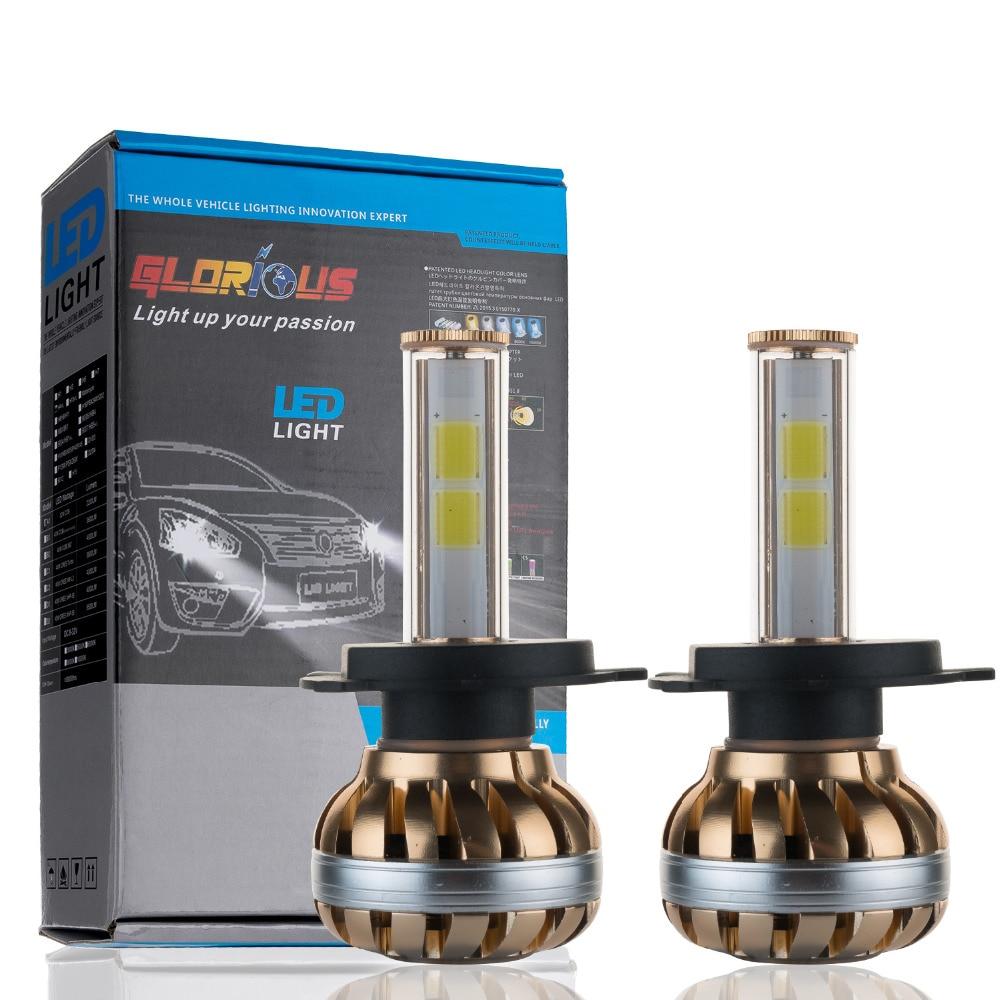 ФОТО H4 LED headlight 80W 7200LM 6000K for car Automotive Headlight and Fog lamp