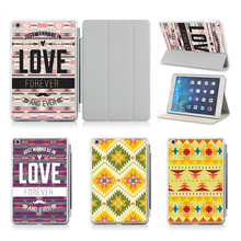 Customized Printed Flip Laborious Plastic Case Design AZTEC Poster Stripe Background Pill Shield Case For iPad Air 2 Case Cowl!