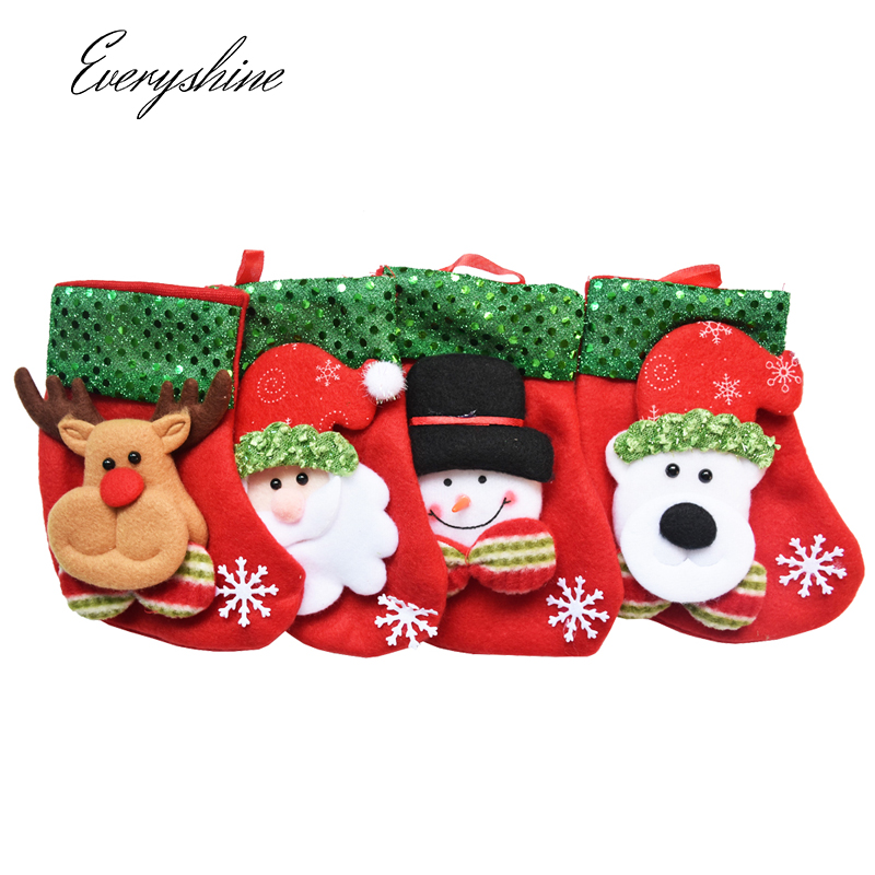 Christmas Stocking Chrismas Decoration Sock for Home Christmas Tree Ornaments Gift Holders Stockings New Year Gift Bags DS403 ...