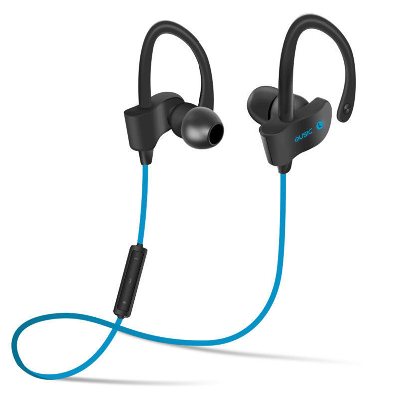 Wireless Sports Earphone with Microphone Earhook In-ear Bluetooth 4.1 Stereo Voice Control Noise Reduction for iPhone 5s 6s 7 6 colors mini wireless bluetooth v4 0 earphone q3 in ear stereo voice control earphone call music