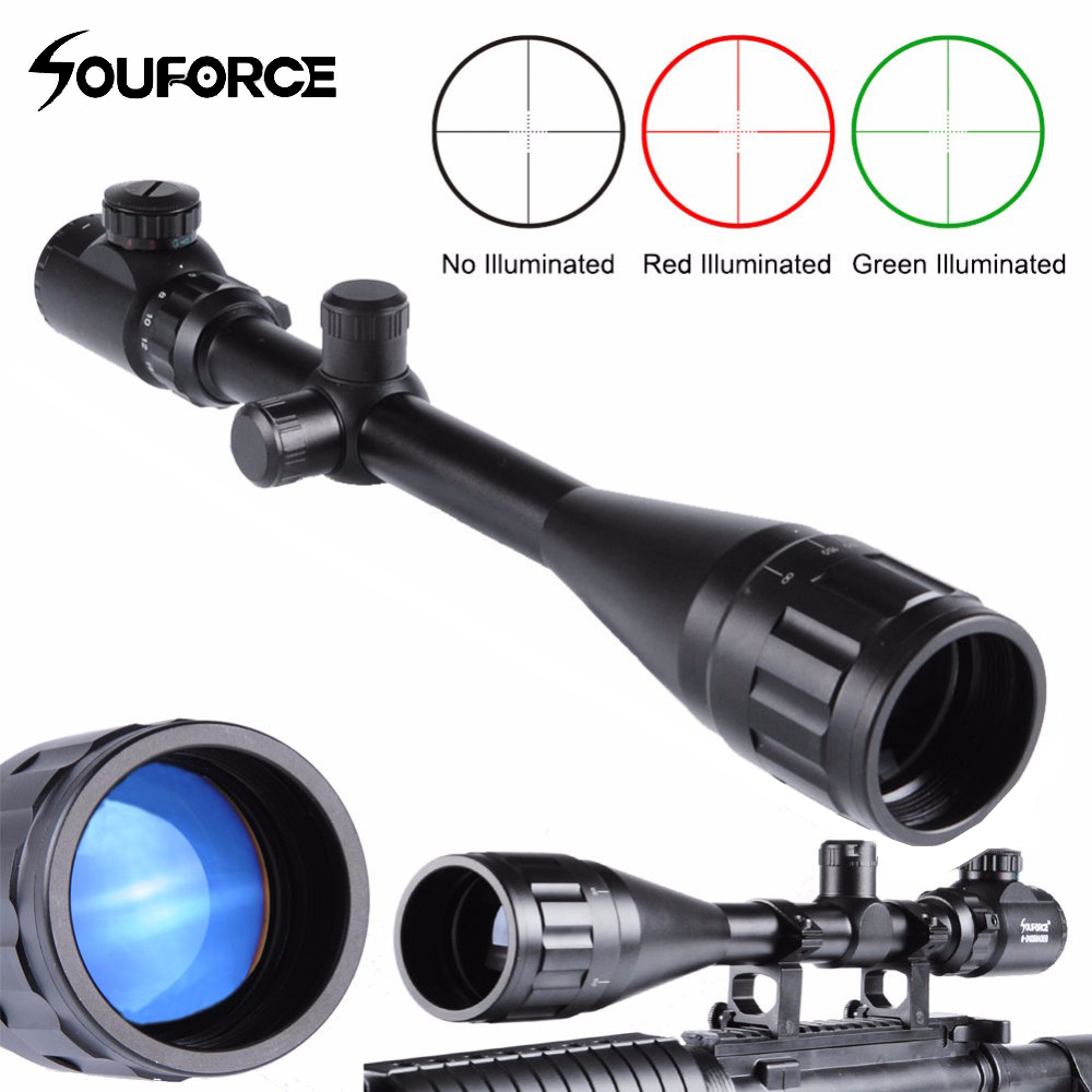Hunting 6-24X50 AOEG Green/Red Mil-Dot/Rangfinder Tactical Optics Riflescope With a Dust Cover for Shotgun RiflescopesHunting 6-24X50 AOEG Green/Red Mil-Dot/Rangfinder Tactical Optics Riflescope With a Dust Cover for Shotgun Riflescopes
