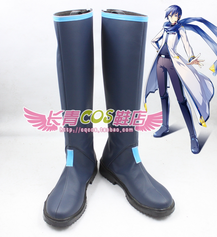 VOCALOID3 kaito cosplay Shoes Boots Custom Made 4458