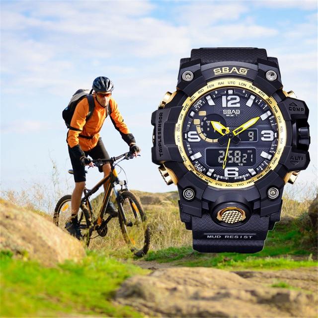 SBAO  Watch LED Men Waterproof Sports Watches Shock Digital Electronic Fashion Sports Men Watch relogio masculino reloj hombre