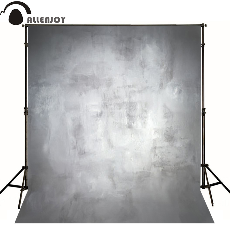 Allenjoy Thin Vinyl cloth photography Backdrop gray princess Baby Pure Color Computer Printing Background For Studio MH-094