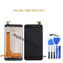 ل BQS 5057 LCD + محول الأرقام بشاشة تعمل بلمس مكون استبدال ل BQ BQS 5057 BQS 5057 LCD شاشة مكون إصلاح اكسسوارات