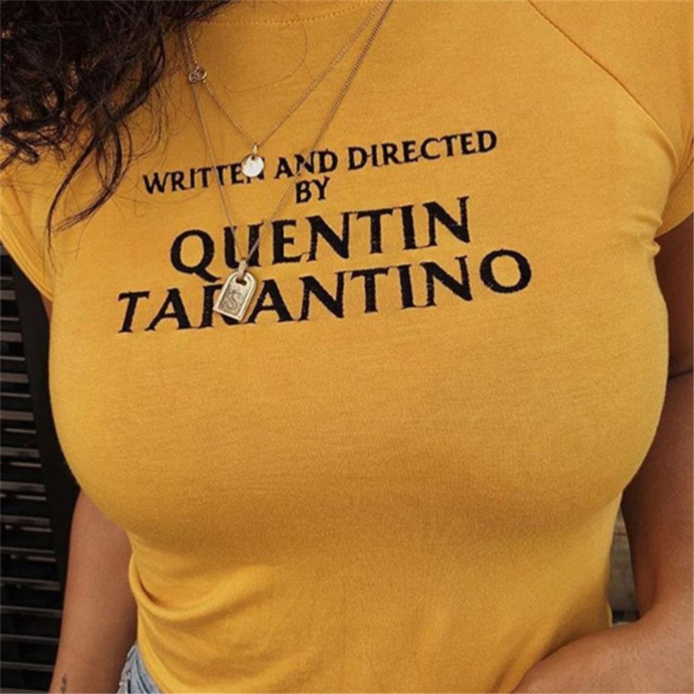 quentin-font-b-tarantino-b-font-lado-sexy-cortar-tops-mulheres-2018-moda-tarja-de-manga-curta-de-algodao-amarelo-goth-arte-slogan-90-s-tees-tshirt-da-senhora
