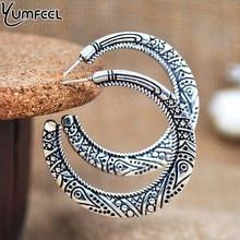 Yumfeel новые винтажные Ювелирные Серьги античные золотые винтажные тибетские серебряные серьги-кольца для женщин Подарки винтажные обручи