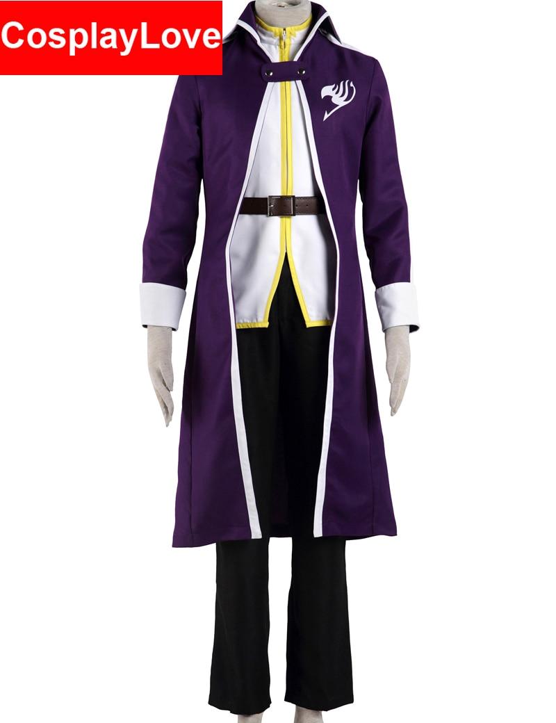 Vysoká kvalita Fairy Tail Cosplay Grey Fullbuster kostýmy pro Vánoční Halloween Party CosplayLove skladem