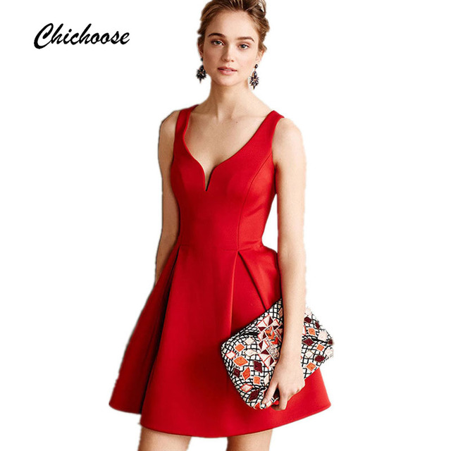 autumn women elegant vintage sexy halter dress fashion chest wrapped sleeveless evening party dress red valentine