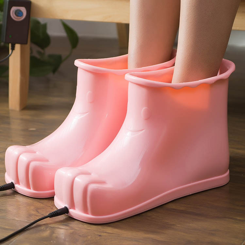 Portable Charging Wam Kept Foot Massage Boots Feet Care Relaxation Shoes Household Non Slip Feet Acupoint Massage Spa Bath Boots