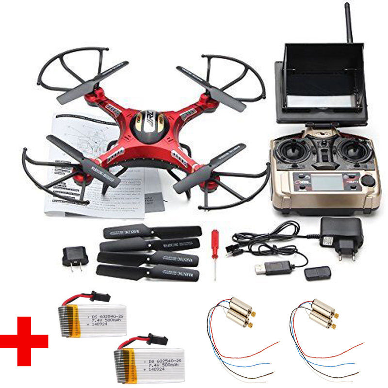 Free Shipping! JJRC H8D Real-time FPV RC Quadcopter Drone W/HD Camera + 2 Battery + 4 Motors 2 pack 7 4v 500mah lithium battery for jjrc h8c h8d rc quadcopter spare free shipping