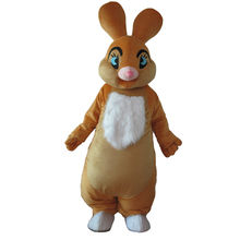2017 Hot selling Adult cartoon lovely brown rabbit mascot costume fancy dress party adult size