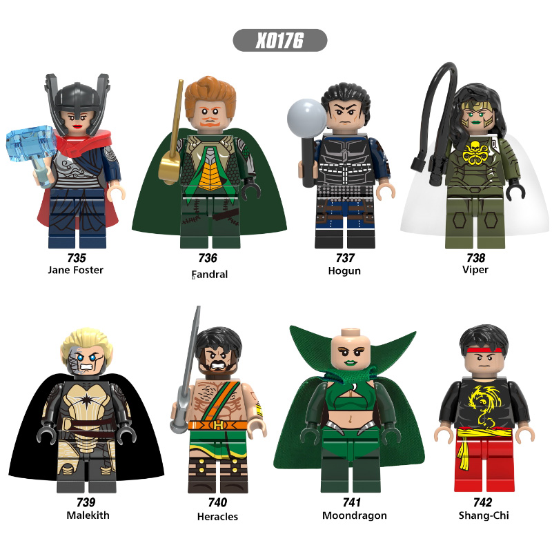 Single Sale Super Heroes Fandral Viper Malekith Moondragon Jane Foster Hogun Bricks Building Blocks Children Gift Toys