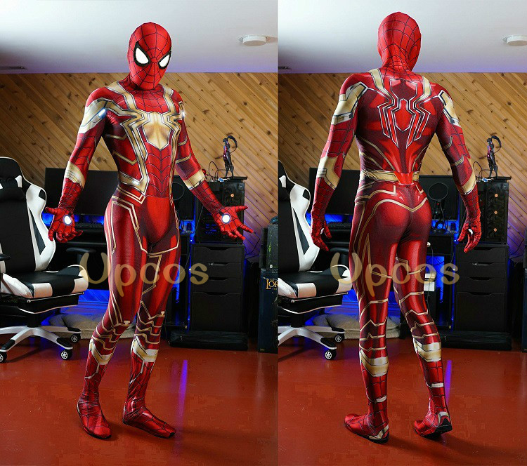 New Avengers Infinity War Iron Spiderman Costume 3D Printing Lycra Spiderman Cosplay Zentai Superhero Bodysuit Suit Jumpsuits