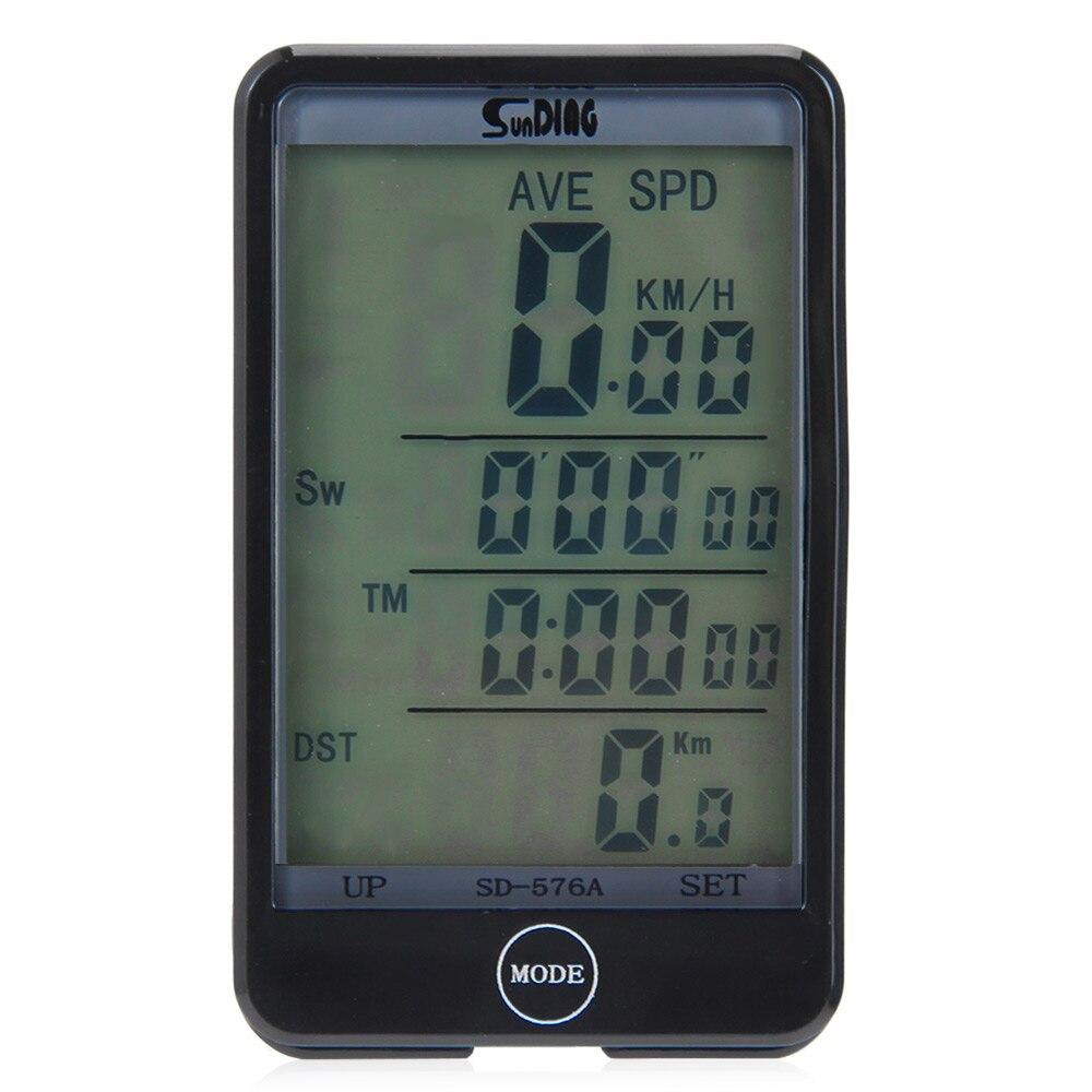 Les Mieux Notés SD-576A Étanche Ordinateur De Vélo Lumière Mode Tactile Filaire Ordinateur De Vélo Vélo Compteur Avec ÉCRAN LCD Rétro-Éclairage