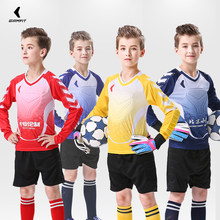Soccer Jersey Goalkeeper Shirt Pants Survetement Football 2018 2019 Training Uniform Suit Kids Thickened Protection Kits Custom(China)