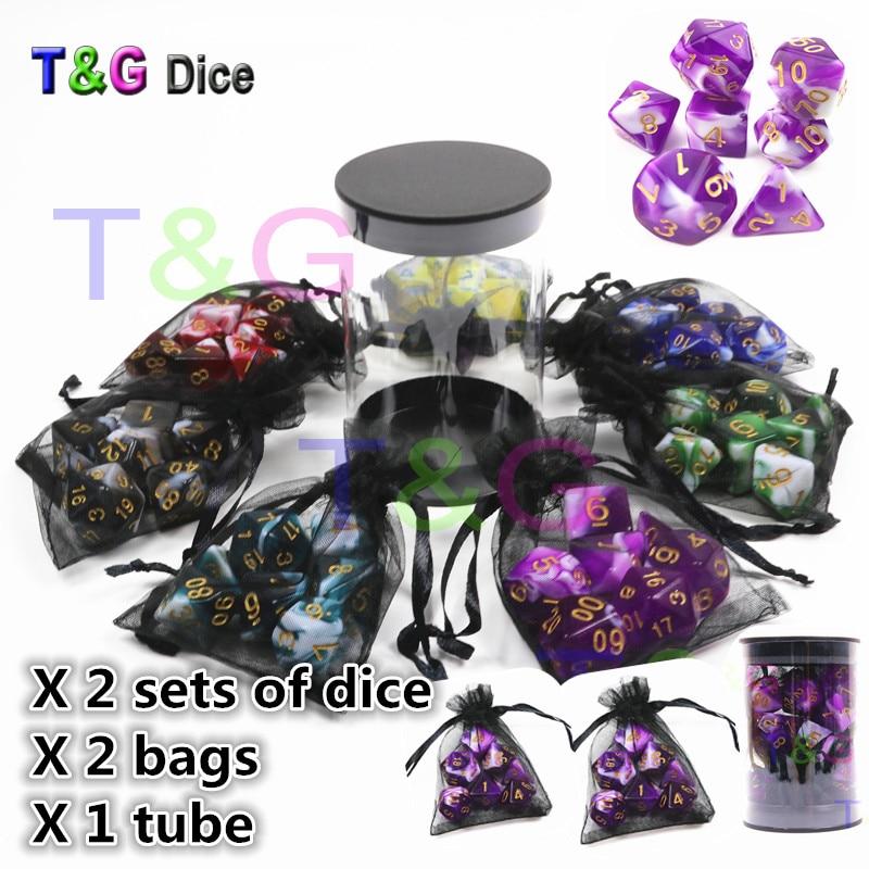 Лидер продаж прозрачный Mix-цвет RPG Игральная кость с высокое качество Портативный трубка для День рождения подарок, Рождество присутствует, ...