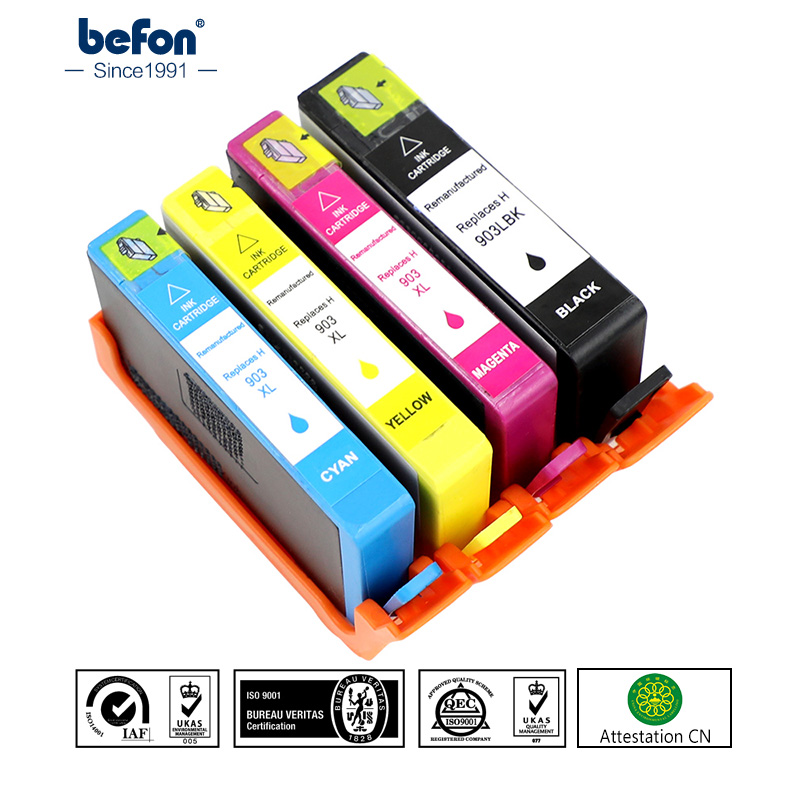 befon 903XL Compatible Ink Cartridge Replacement for HP 903 HP903 for OfficeJet Pro 6950 6960 6970 All-in-One Printer for Europe befon master roll cpmt16 a4 compatible for gestetner jp1210 1230