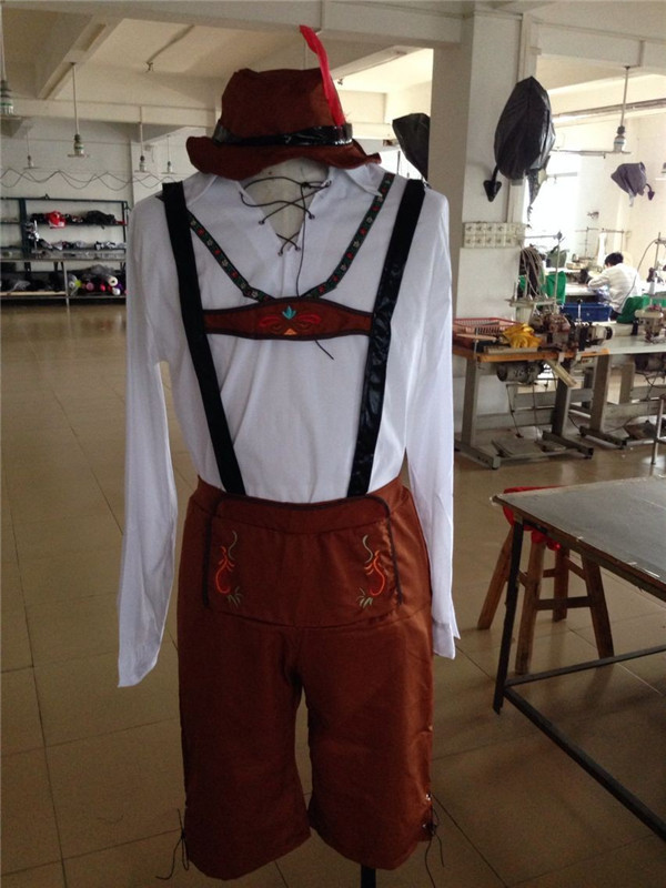 FREE SHIPPING Mens Oktoberfest Bavarian Beer German Lederhosen Fancy Dress Costumes Outfit