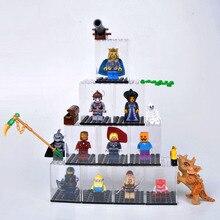 Estuche de exposición/a prueba de polvo/caja de ensamblaje, base de ventana de tienda para Lego, bloques de acrílico, vitrina de plástico