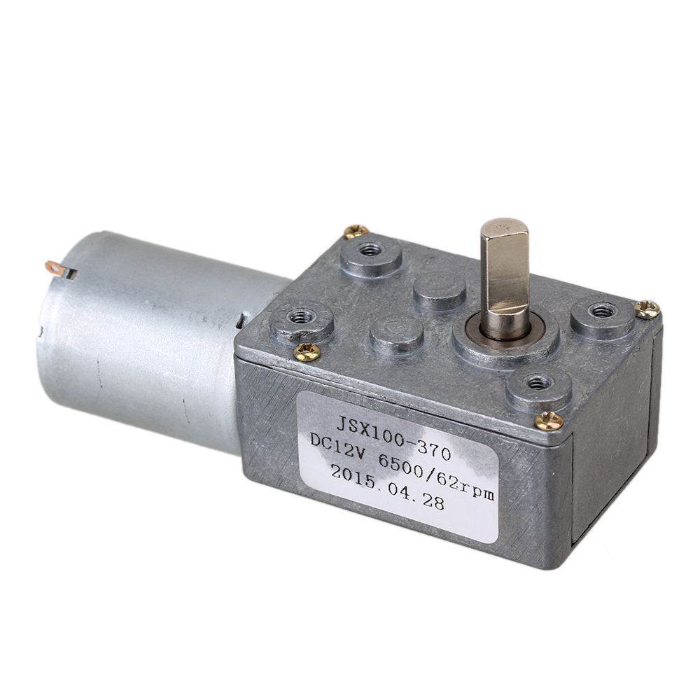 Dc 12v 62rpm Square High Torque Turbo Worm Geared Motor