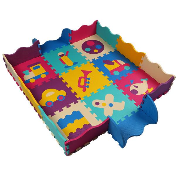 Adorável EVA 30*30 cm 25 pçs/set Enigma Tapete Esteira Do Jogo Do Bebê com Cercado Piso Enigma Mat Crianças Espuma tapete De chão de Mosaico