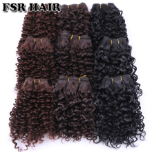 FSR синтетические волосы плетение короткие кудрявые вьющиеся волосы ткачество 6 шт./лот 210 г волосы продукт