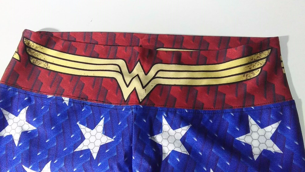 46b8fa3ce2613 Aliexpress.com : Buy Wonder Woman Yoga Pants Gold Star Fitness Jogging  Leggings Wonder Woman Sports Tights Red Blue Compression Trousers Hot from  Reliable ...