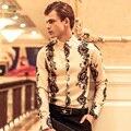 Envío de la Nueva moda masculina 2014 de la chaqueta del hombre Metrosexual Barroco original individual bordado traje de corte 14207 FanZhuan