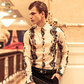 Free Shipping New man's male fashion 2014 blazer Baroque Metrosexual original individual embroidery court suit 14207 FanZhuan